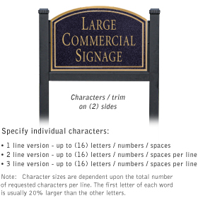 Salsbury 1522BGN2 Commercial Address Sign