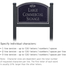 Salsbury 1522BSF1 Commercial Address Sign