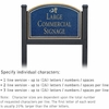 Salsbury 1522CGD1 Commercial Address Sign
