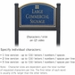 Salsbury 1522CGG2 Commercial Address Sign