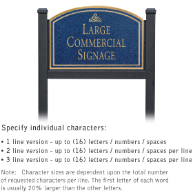 Salsbury 1522CGI1 Commercial Address Sign
