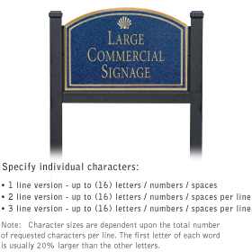 Salsbury 1522CGS1 Commercial Address Sign