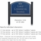 Salsbury 1522CSF2 Commercial Address Sign