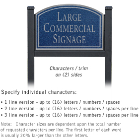 Salsbury 1522CSN2 Commercial Address Sign