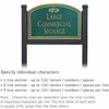 Salsbury 1522JGF1 Commercial Address Sign