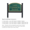 Salsbury 1522JGN1 Commercial Address Sign