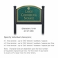 Salsbury 1522JGS2 Commercial Address Sign