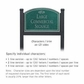 Salsbury 1522JSF2 Commercial Address Sign