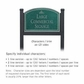 Salsbury 1522JSI2 Commercial Address Sign