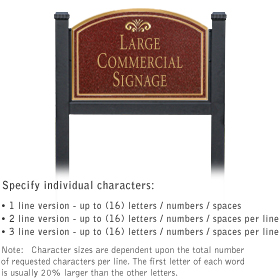 Salsbury 1522MGF1 Commercial Address Sign