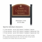 Salsbury 1522MGS2 Commercial Address Sign