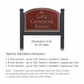 Salsbury 1522MSI2 Commercial Address Sign