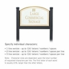 Salsbury 1522WGG1 Commercial Address Sign