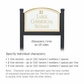 Salsbury 1522WGG2 Commercial Address Sign
