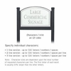 Salsbury 1522WSN2 Commercial Address Sign
