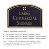 Salsbury 1520BGG Commercial Address Sign