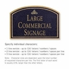 Salsbury 1520BGI2 Commercial Address Sign
