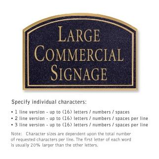Salsbury 1520BGN Commercial Address Sign