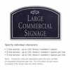 Salsbury 1520BSF Commercial Address Sign