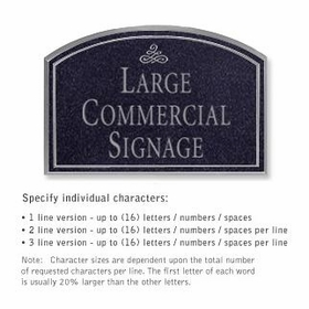 Salsbury 1520BSI2 Commercial Address Sign