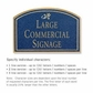 Salsbury 1520CGD Commercial Address Sign