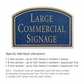 Salsbury 1520CGN Commercial Address Sign