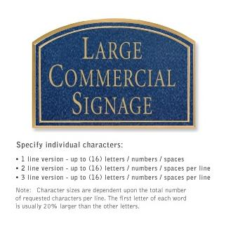 Salsbury 1520CGN2 Commercial Address Sign