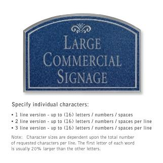 Salsbury 1520CSF Commercial Address Sign