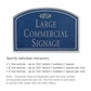 Salsbury 1520CSF2 Commercial Address Sign
