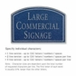 Salsbury 1520CSN2 Commercial Address Sign