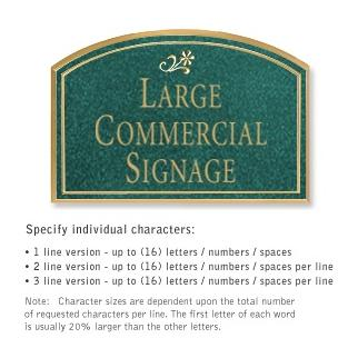 Salsbury 1520JGD Commercial Address Sign