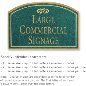 Salsbury 1520JGF Commercial Address Sign