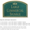 Salsbury 1520JGF2 Commercial Address Sign