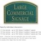 Salsbury 1520JGN2 Commercial Address Sign