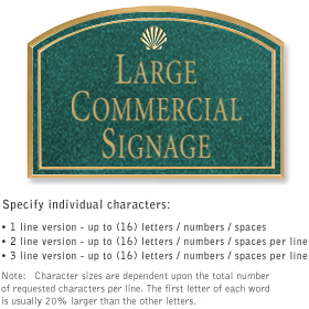 Salsbury 1520JGS Commercial Address Sign