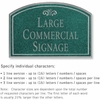 Salsbury 1520JSF2 Commercial Address Sign