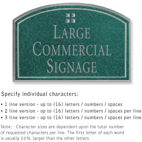 Salsbury 1520JSG2 Commercial Address Sign