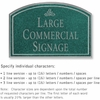 Salsbury 1520JSI2 Commercial Address Sign