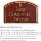 Salsbury 1520MGG Commercial Address Sign