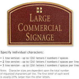 Salsbury 1520MGG2 Commercial Address Sign