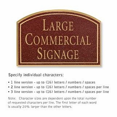 Salsbury 1520MGN Commercial Address Sign