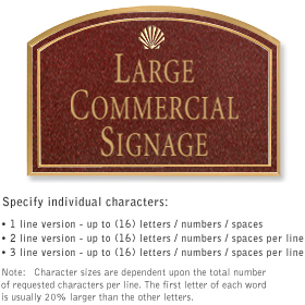 Salsbury 1520MGS Commercial Address Sign