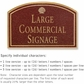 Salsbury 1520MGS2 Commercial Address Sign