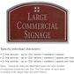 Salsbury 1520MSG Commercial Address Sign