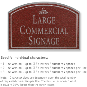 Salsbury 1520MSI Commercial Address Sign