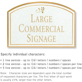 Salsbury 1520WGD Commercial Address Sign
