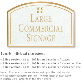 Salsbury 1520WGG Commercial Address Sign