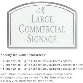 Salsbury 1520WSD Commercial Address Sign