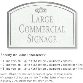 Salsbury 1520WSF Commercial Address Sign