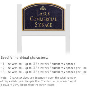 Salsbury 1521BGI1 Commercial Address Sign
